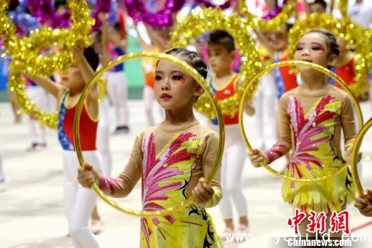 陕西省幼儿基本体操比赛启幕 助推儿童科学锻炼